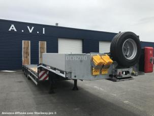 Porte-engins MAX Trailer MAX100 extensible table hydrau